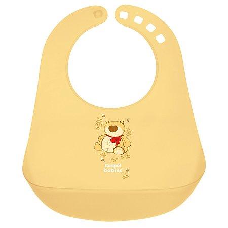 Нагрудник Canpol Babies пластиковый Жёлтый