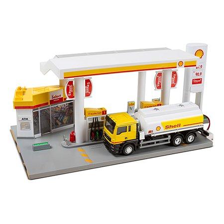 Автозаправка Mobicaro SHELL 1:64 с танкером