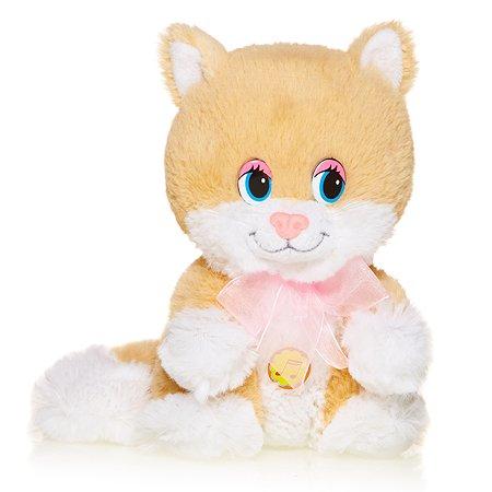 Веселый Котенок Maxi Play с розовым бантом озвученный