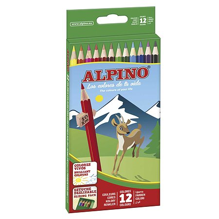 Карандаши ALPINO цветные шестигранные 12 цв.