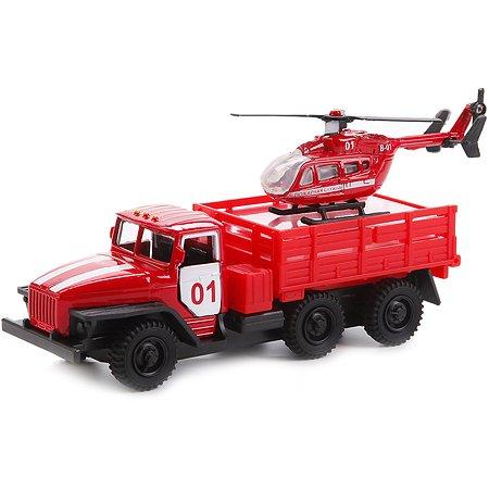 Машина Технопарк Урал с вертолетом 12 см
