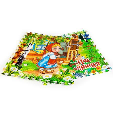 Коврик-пазл Играем вместе Три медведя 8 сегментов