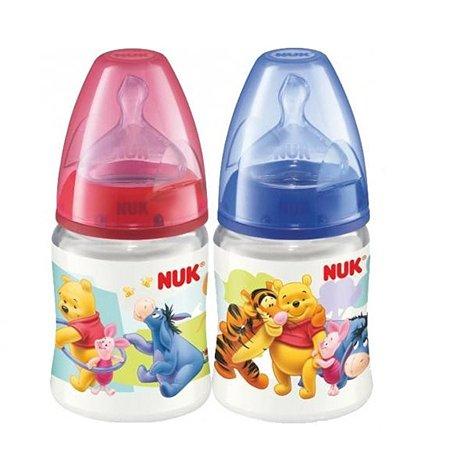Бутылочка Nuk пластиковая Дисней First Choice 150 мл в ассортименте