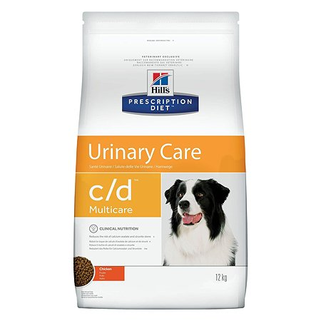 Корм для собак HILLS Prescription Diet c/d Urinary Care для МКБ с курицей сухой 12кг