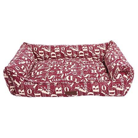 Лежанка для кошек и собак LIONMANUFACTORY Мэдисон со съемным чехлом Бордовый