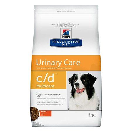 Корм для собак HILLS Prescription Diet c/d Urinary Care для МКБ с курицей сухой 2кг