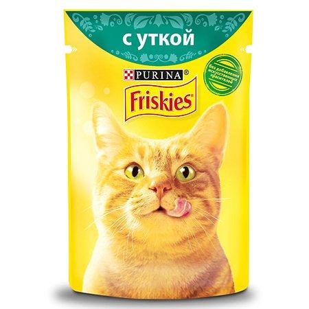 Корм влажный для кошек Friskies 85г с уткой в подливе пауч
