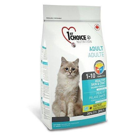Корм для кошек 1st Choice Здоровая кожа и шерсть лосось 907г