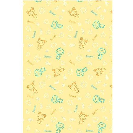 Клеенка Витоша подкладная с ПВХ покрытием с рисунком Желтая