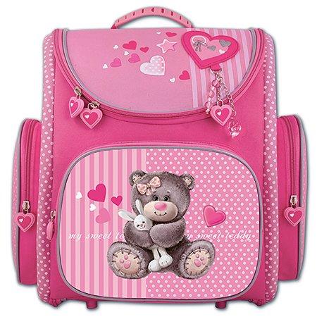 Ранец Феникс + розовый с медвежонком