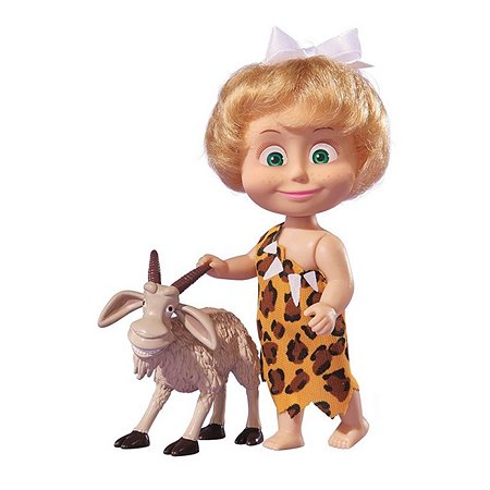Кукла Simba Маша и медведь Маша в пятнистой шкуре с козлом