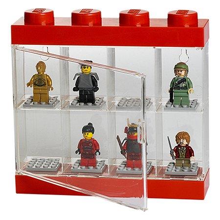 Дисплей для минифигур LEGO 8 шт красный