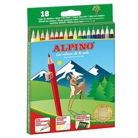 Карандаши ALPINO цветные шестигранные  18 цв.