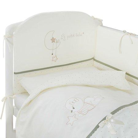 Комплект постельного белья Perina LE PETIT BEBE для детей, оливковый, 6 предметов