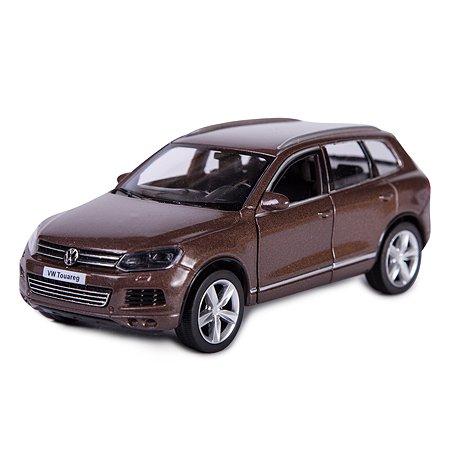 Машина Mobicaro 1:32 Volkswagen Touareg Коричневая