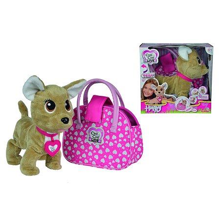 Плюшевая собачка Chi Chi Love Счастливчик с сумкой