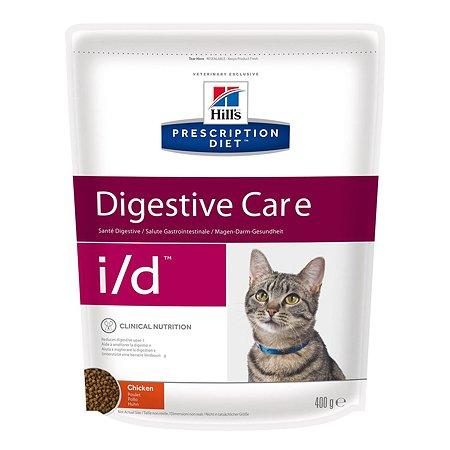 Корм для кошек HILLS Prescription Diet i/d Digestive Care с курицей для здоровья ЖКТ сухой 400г