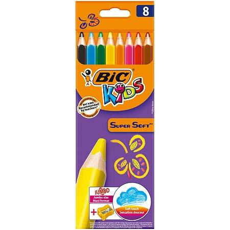 Карандаши цветные BIC супер мягкие 8цветов 8959211