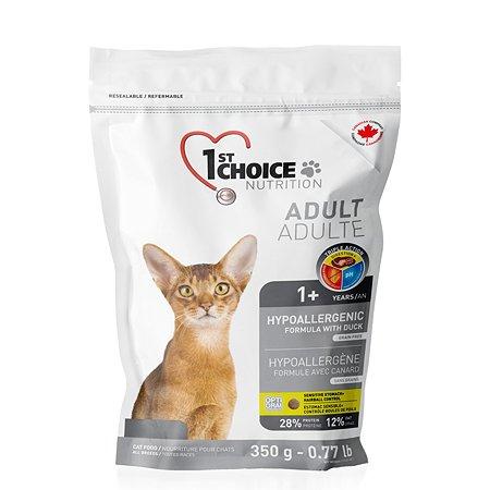 Корм для кошек 1st Choice гипоаллергенный утка с картофелем 350г