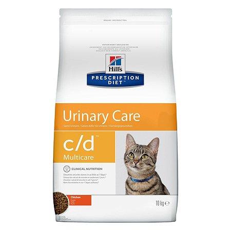 Корм для кошек HILLS Prescription Diet c/d Multicare Urinary Care для МКБ с курицей сухой 10кг