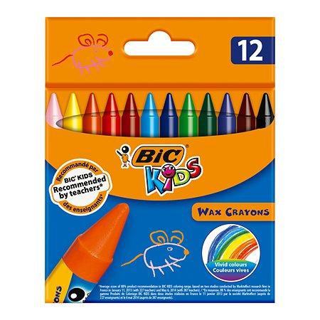 Мелки восковые BIC 12цветов 927829