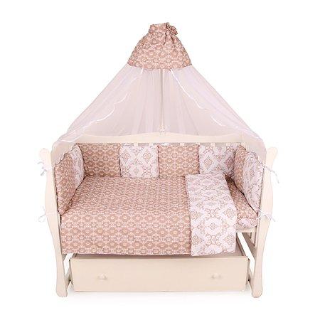 Комплект постельного белья AMARO BABY Королевский 8предметов Коричневый