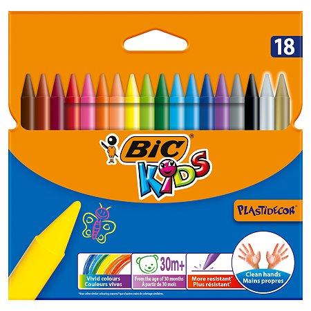 Мелки BIC Пластидекор 18цветов 8297711