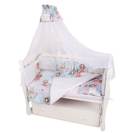 Комплект постельного белья AMARO BABY Стиль 8предметов Розовый