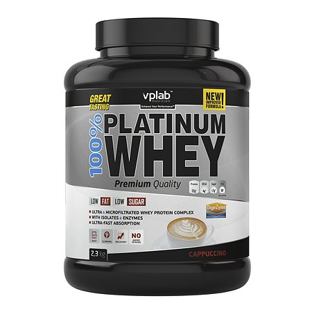 Протеин VPLAB Platinum Whey 100% капучино 2.3кг