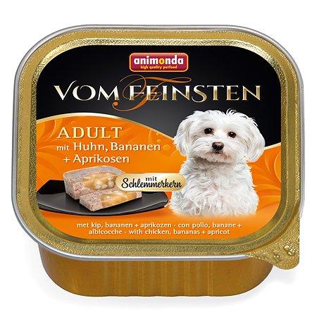 Корм для собак ANIMONDA Vom Feinsten Adult М с курицей бананом и абрикосами консервированный 150г