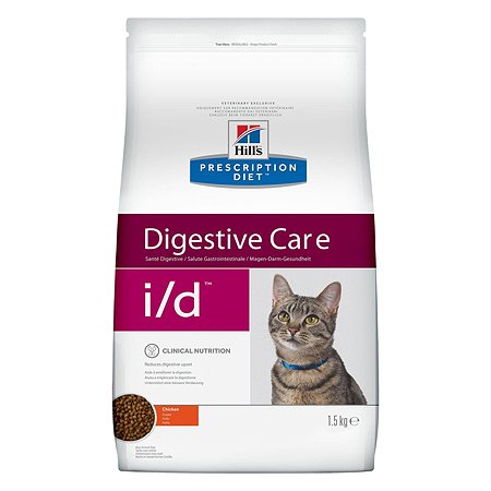Корм для кошек HILLS Prescription Diet i/d Digestive Care для здоровья ЖКТ с курицей сухой 1.5кг