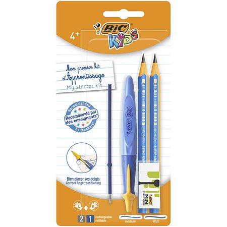 Набор BIC Старт ручка карандаш чернографитовый ластик стержень 945761