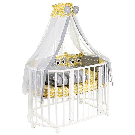 Комплект в овальную кроватку Sweet Baby Uccellino 10предметов Giallo Желтый