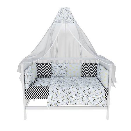 Комплект постельного белья AMARO BABY Лоло 8предметов ABDM-3019P-Pi