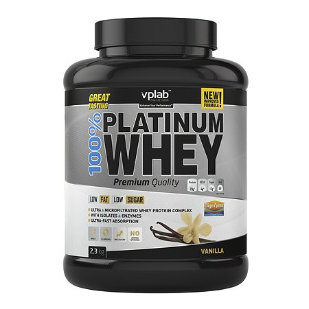 Протеин VPLAB Platinum Whey 100% ваниль 2.3кг