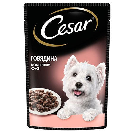 Корм для собак Cesar говядина в сливочном соусе консервированный 85г