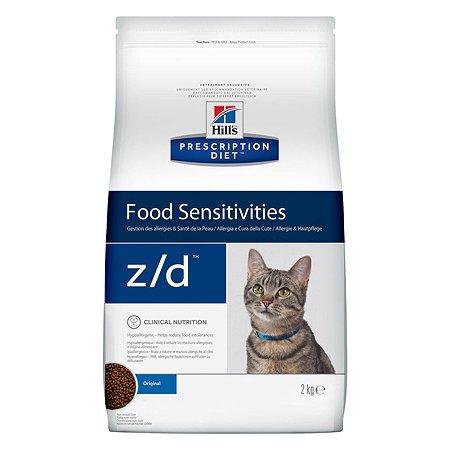 Корм для кошек HILLS Prescription Diet z/d Food Sensitivities для кожи и при пищевой аллергии сухой 2кг