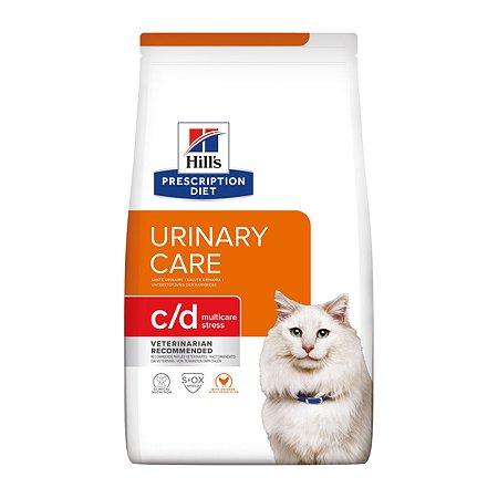 Корм для кошек HILLS Prescription Diet c/d Urinary Stress для МКБ и при стрессе с курицей сухой 1.5кг