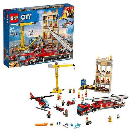 Конструктор LEGO City Fire Центральная пожарная станция 60216