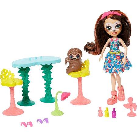 Кукла Enchantimals Салон красоты со зверюшкой и тематическим набором GFN54