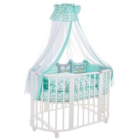 Комплект в овальную кроватку Sweet Baby Civetta 10предметов Verde Мятный