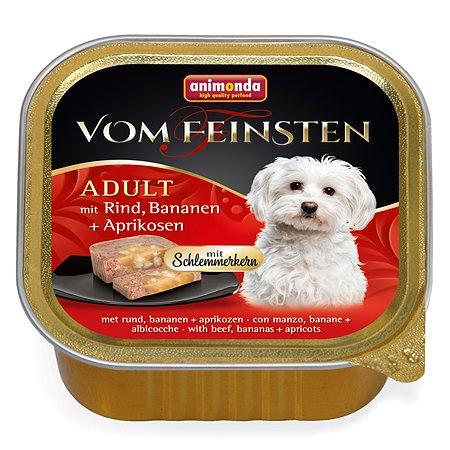 Корм для собак ANIMONDA Vom Feinsten Adult М с говядиной бананом и абрикосами консервированный 150г