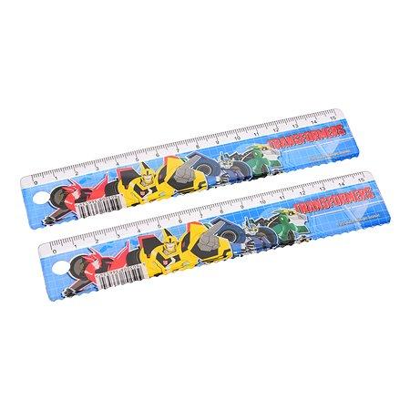 Линейка Kinderline Transformers 15см 2шт TRCB-US1-201-H2