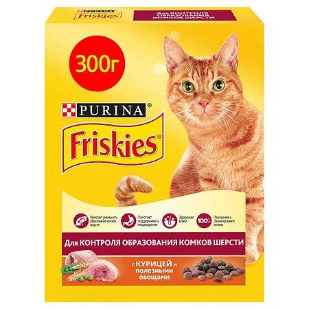 Корм сухой для кошек Friskies 300г курица-овощи для контроля образования комков шерсти