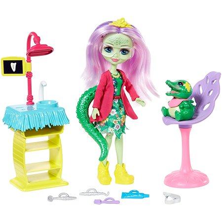 Кукла Enchantimals Стоматология со зверюшкой и тематическим набором GFN55