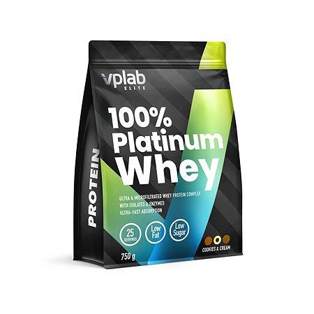 Протеин VPLAB Platinum Whey 100% печенье-крем 750г