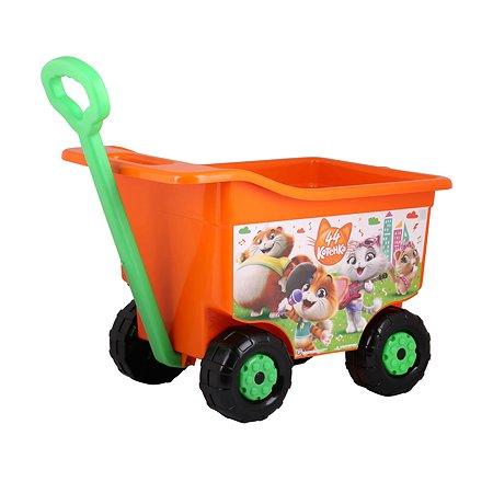 Тележка для игрушек Альтернатива 44котёнка на колесах М7657