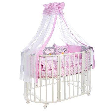 Комплект в овальную кроватку Sweet Baby Civetta 10предметов Rosa Розовый