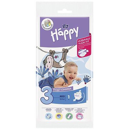 Подгузники Bella baby Happy Midi 3 5-9кг 1шт