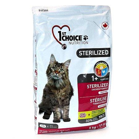 Корм для кошек 1st Choice Sterilized курица с бататом 5кг